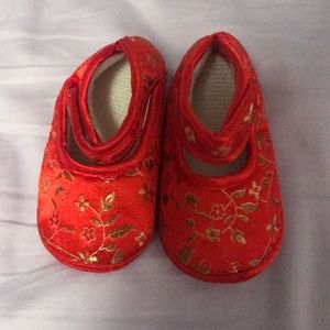 Red Chinese slippers